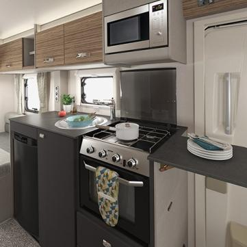 Kitchen with a Motorhome