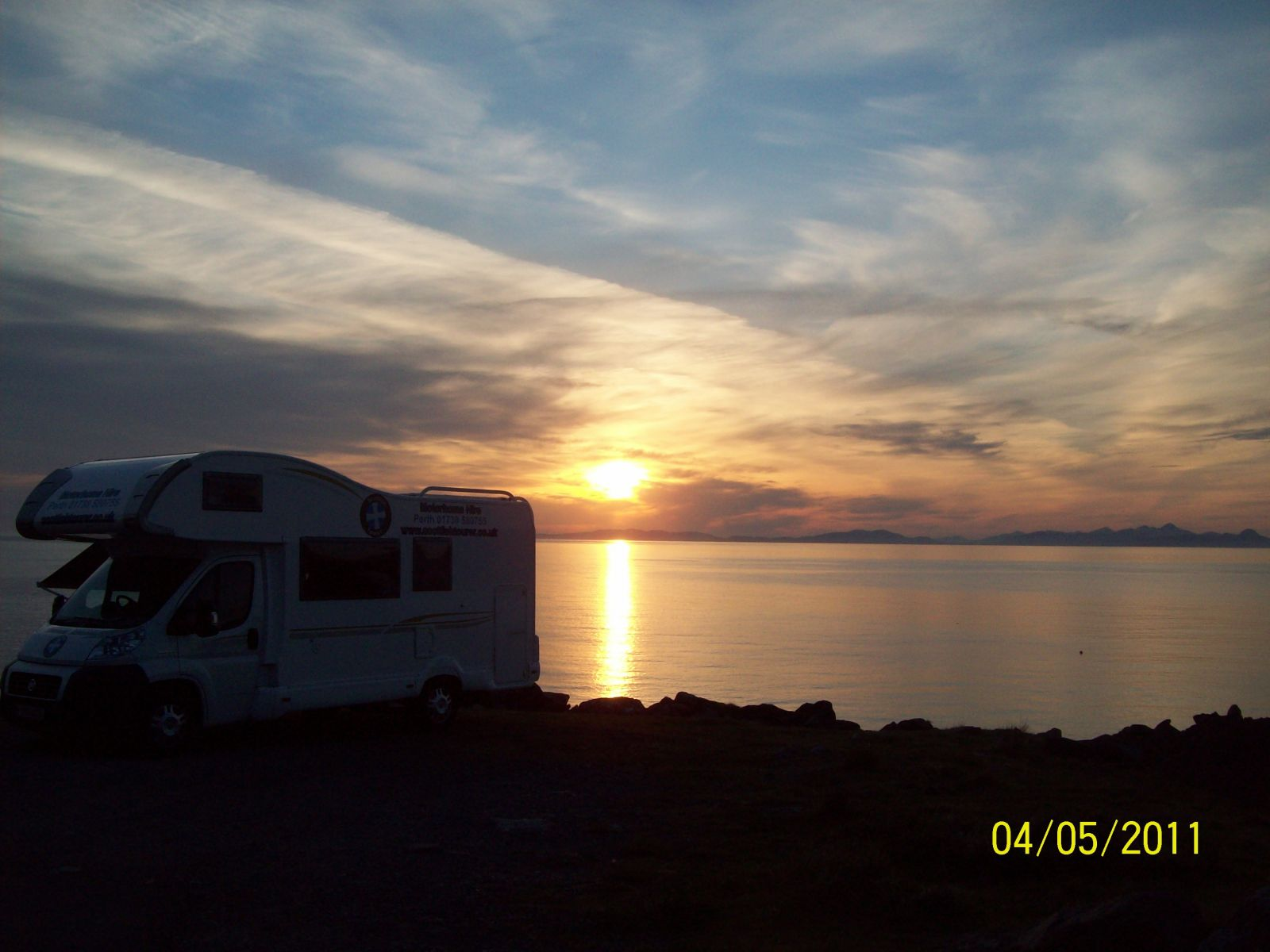 Sunset with the motorhome