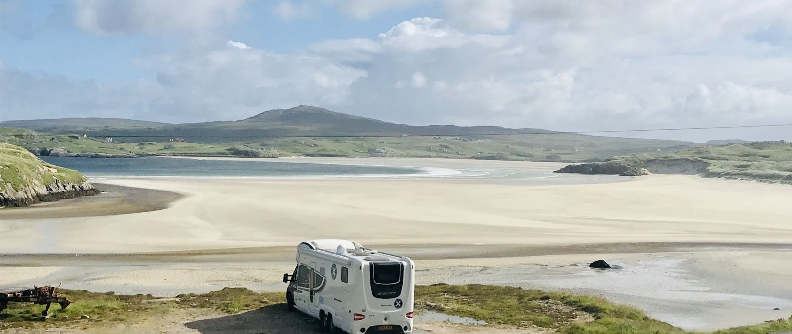 Parking in the Outer Hebridies with scottish Tourer