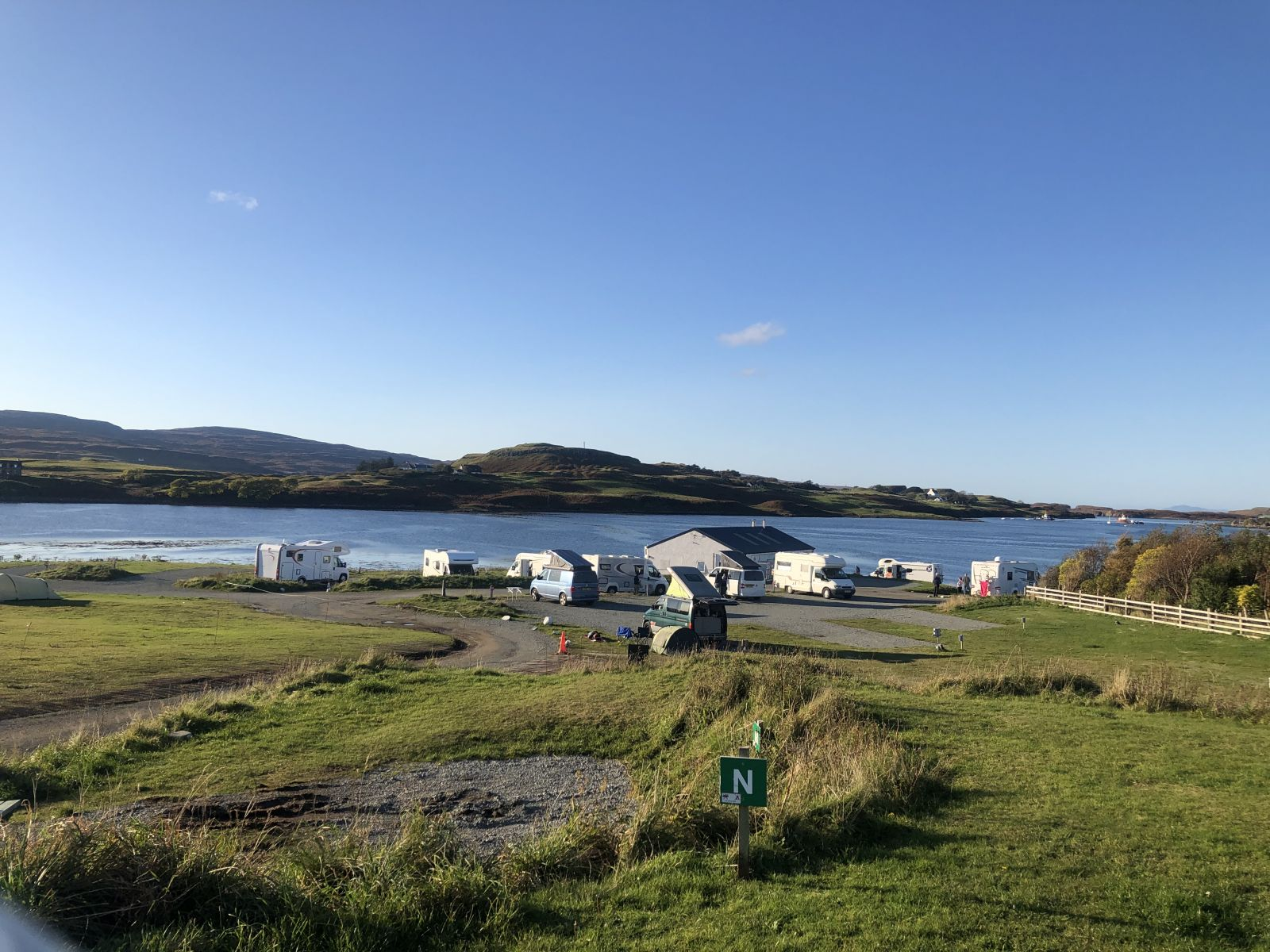 View at Kinloch Campsite with scottish Tourer