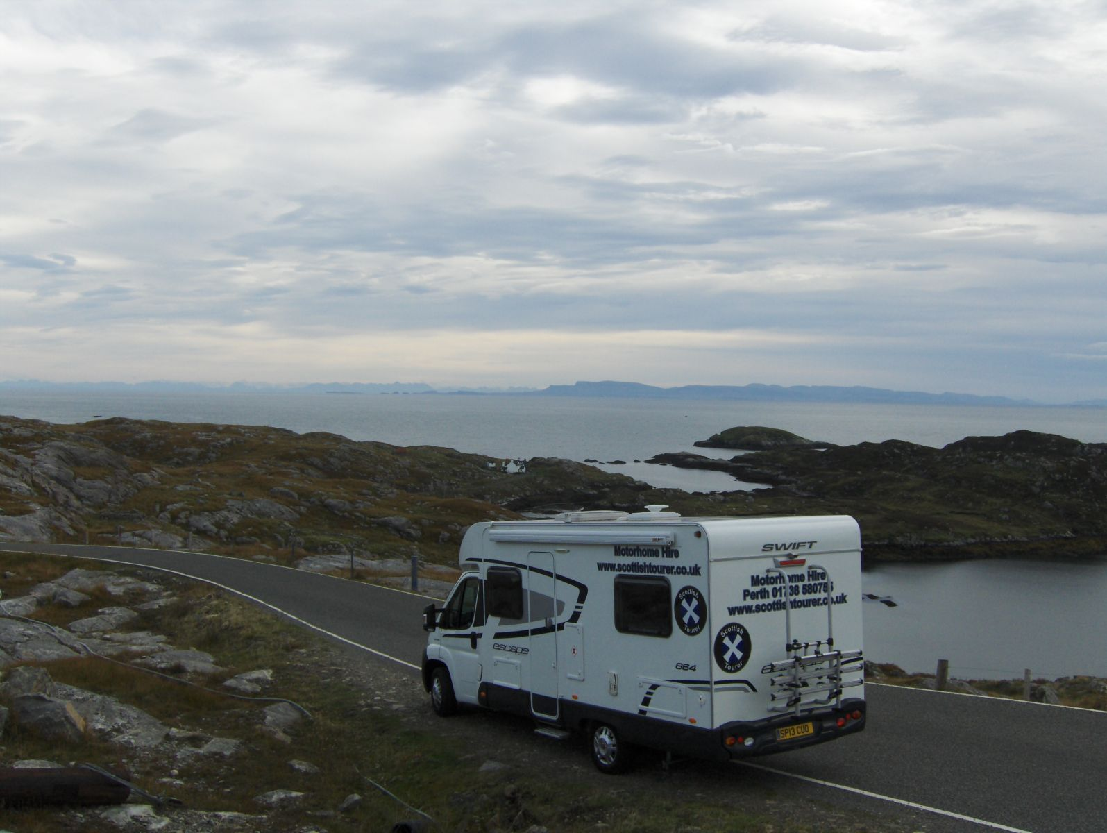 Enjoying the view from the motorhome