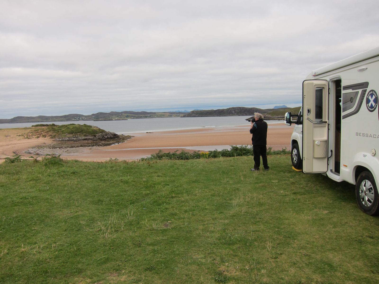 Beach front location wildlife spotting in your motorhome