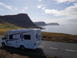Wild camping in an Islay Motorhome