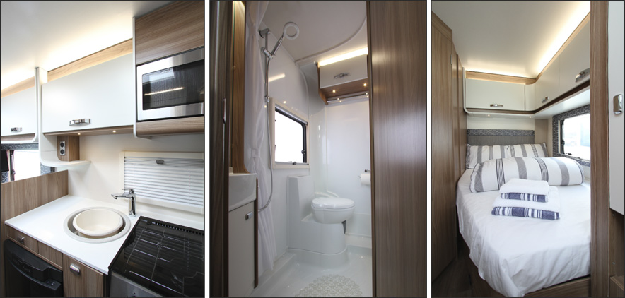 images of the Islay motorhome interior