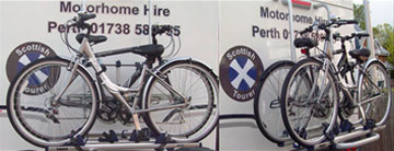 Bike hire at Scottish tourer motorhome hire