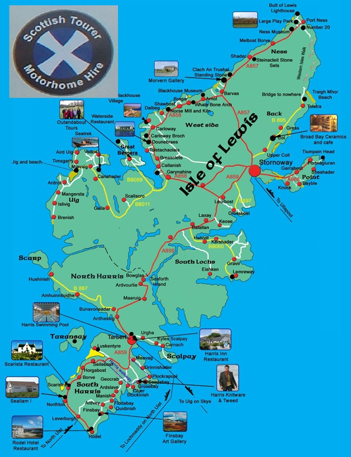 Scottish tourer outer hebrides map