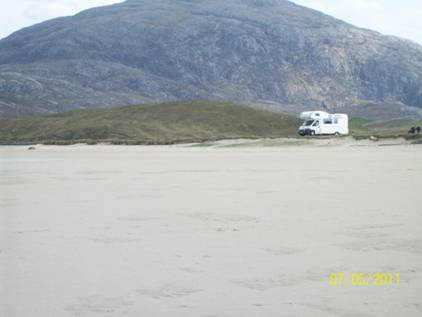 Scottish tourer motorhome on Uig