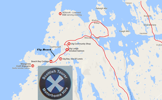 Scottish tourers map