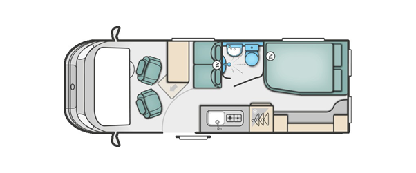 Layout of Swift Select Campervan