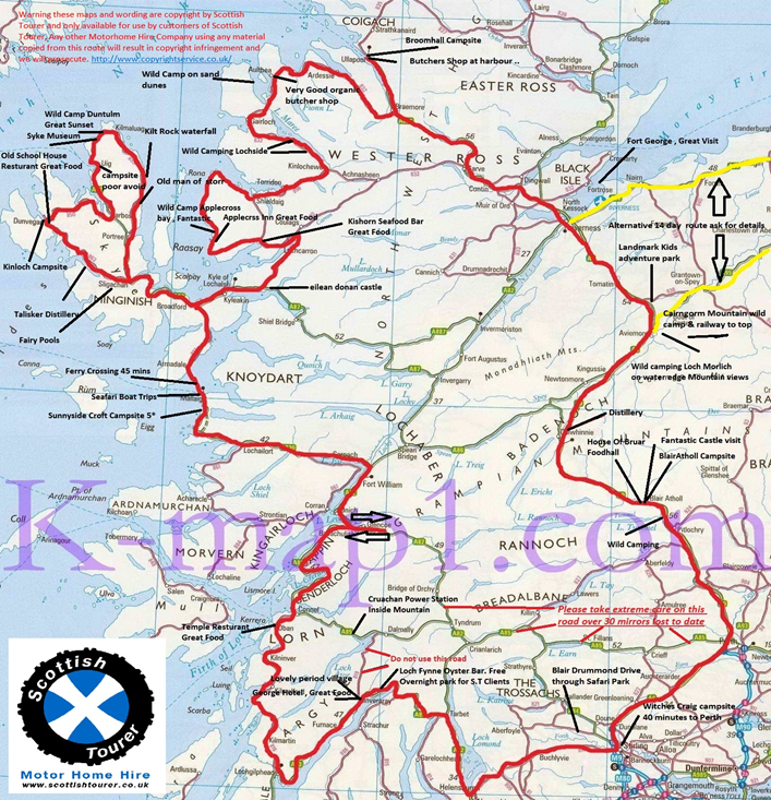 Scottish Tourer, West Coast Motorhome Route