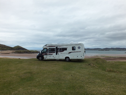 Scottish Tourer wild camp spot