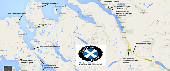 Scottish Tourer West Coast Route Map