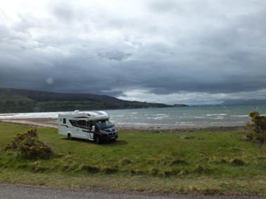 Scottish tourer at applecross