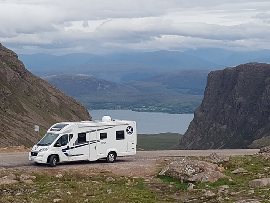 Scottish Tourer at Applecross Pass