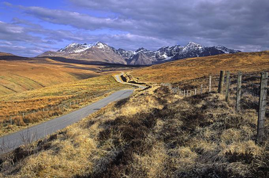 Glen Brittle Road to The Black Cuillin Mountains on Skye
