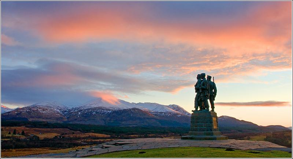 The Commando Memorial on west coast route with scottish tourer