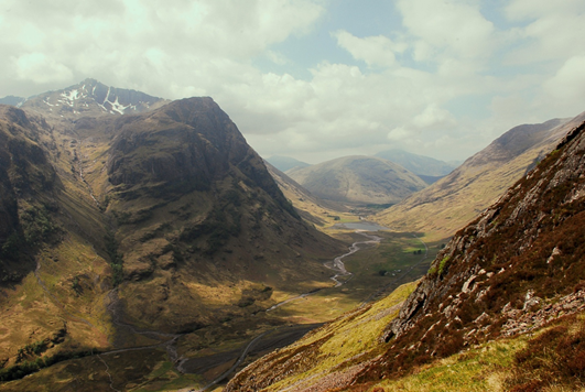 Glencoe with Scottish tourers west coast route