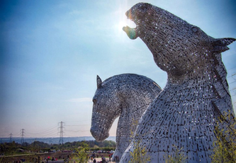 Kelpies at the Helix Park Falkirk