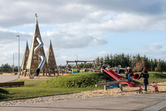 Kids play area at the Helix Park in Falkirk