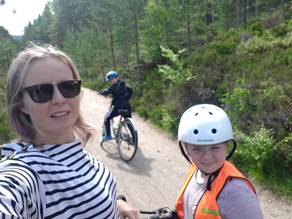 Family cycle run with scottish Tourer motorhome Hire