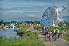 Cycle Route by the Kelpies and Scottish Tourer Motorhome Hire