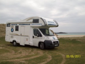 Exploring Scotland by Motorhome at the beach