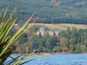 Scottish castle at the banks of the loch makes a perfect picture