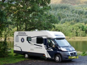 Wild camping by the loch