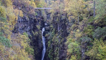 Corrieshalloch Gorge is situated on the Droma River